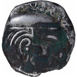 Silver Drachma Coin of Swami Simhasena of Western Kshatrapas.