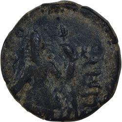 Copper Drachma  of Kanishka I of Kushana Dynasty of Oesho Type.