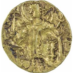 Very Rare Gold Dinar Coin of Gadahara of Kirada of Kushan Dynasty.