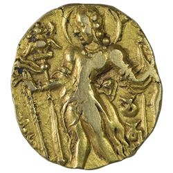 Rare Gold Dinar Coin of Chandragupta II of Gupta Dynasty of Archer Type.