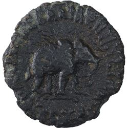 Bronze Coin of Azes I of Indo Scythians.