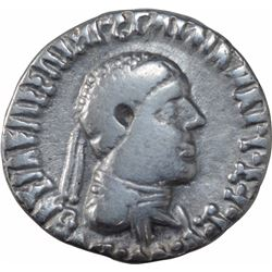 Silver Drachma Coin of Apollodotos II of Indo Greeks.