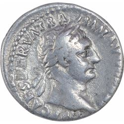 Silver Denarius Coin of Trajan of Roman Empire.