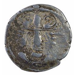 Silver Drachma Coin of Peroz of Gurjara Kingdom of Indo Sassanian.