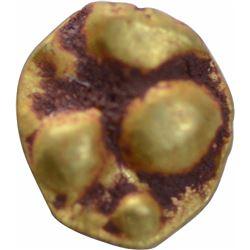 Rare Gold Quarter Fanam Coin of Chalukyas of Kalyani.