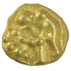 Gold Quarter Fanam Coin of Western Ganga Dynasty.