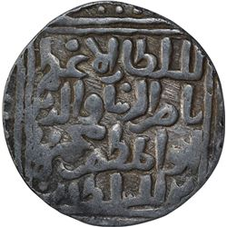 Silver One Tanka Coin of Nasir Ud Din Mahmud of Hadrat Delhi Mint of Delhi Sultanate.