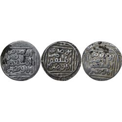 Silver Tanka Coins of Ghiyath Ud Din Balban of Hadrat Delhi Mint of Delhi Sultanate.