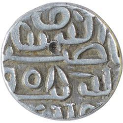 Silver Quarter Tanka Coin of Nasir ud Din Mahmud Shah I of Mustafabad Mint of Gujarat Sultanate.