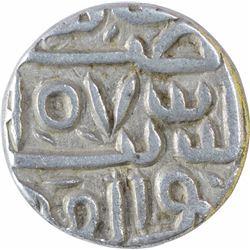 Silver Half Tanka Coin of Nasir ud Din Mahmud Shah I of Mustafabad Mint of Gujarat Sultanate.