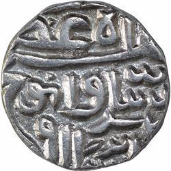Silver Half Tanka Coin of Nasir Ud Din Mahmud Shah I of Gujarat Sultanate.