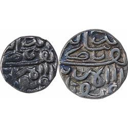 Silver Half Tanka & One Tanka Coins of Nasir Ud Din Mahmud III of Gujarat Sultanate.
