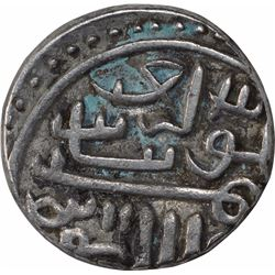 Silver Tanka of Shams al din Muzaffar III of Gujarat Sultanate.