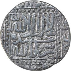 Silver One Rupee Coin of Akbar of Ahmadabad Mint.