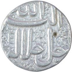 Silver One Rupee Coin of Akbar of Ahmadabad Mint of Khurdad Month.