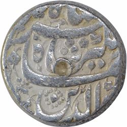 Silver One Rupee Coin of Jahangir of Burhanpur Mint of Aban Month.