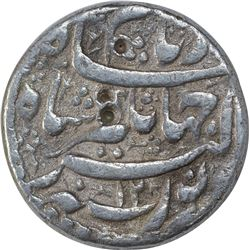Silver One Rupee Coin of Jahangir of Lahore Mint.