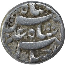 Silver One Rupee Coin of Jahangir of Qandahar Mint.