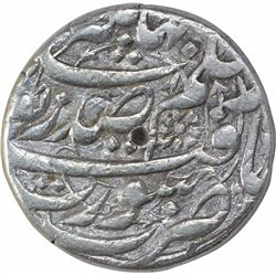 Rare Silver One Rupee Coin of Nurjahan of Surat Mint.