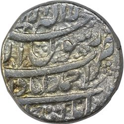 Silver One Rupee Coin of Shahjahan of Ahmadabad Mint of Aban Month.