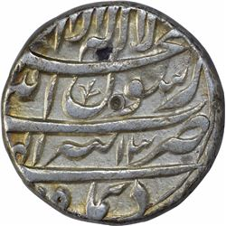 Silver One Rupee of Shah Jahan of Tatta Mint of Di Month.