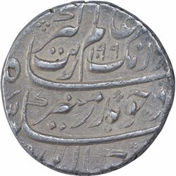 Silver One Rupee Coin of Aurangazeb Alamgir of Aurangabad Mint.