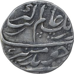 Silver One Rupee Coin of Aurangzeb Alamgir of Lakhnau Mint.