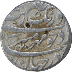 Silver One Rupee Coin of Aurangzeb of Multan Dar Ul Aman Mint.