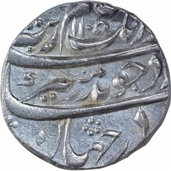 Silver One Rupee of Aurangzeb Alamgir of Sarhind Mint.