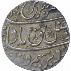 Silver One Rupee Coin of Farrukhsiyar of Kanbayat Mint.