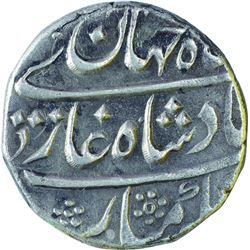 Silver One Rupee Coin of Shahjahan II of Akbarabad Mustaqir ul khilafa Mint.