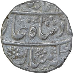 Silver One Rupee Coin of Muhammad Shah of Akbarabad Mustaqir Ul Khilafa Mint.