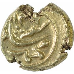 Gold Half Pagoda Coin of Muhammad Shah of Guti Mint.