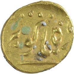 Gold Half Fanam of Shah Alam II.