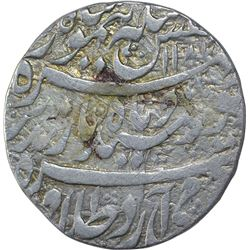 Silver One Rupee Coin of Taimur Shah of Kashmir Mint of Durrani Dynasty.