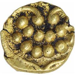 Gold Fanam Coin of Tanjavur Maratha of Maratha Confederacy.