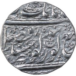 Silver One Rupee Coin of Amritsar Mint of Sikh Empire.