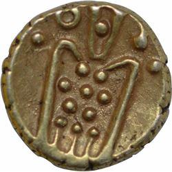 Gold Kali Fanam Coin of Sri Rangaraya III of Vijayanagar Kingdom.