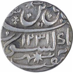 Silver One Rupee Coin of Saadat Ali of Muhammadabad Banaras Mint of Awadh State.