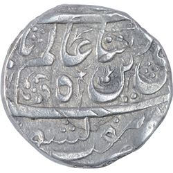 Silver One Rupee Coin of Dost Muhammad of Bhopal State.