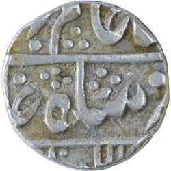 Silver One Rupee Coin of Nandgaon Mint of Bundi State.