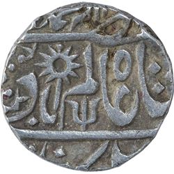 Silver One Rupee Coin of Chhatarpur State.
