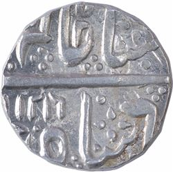 Silver One Rupee Coin of Malhar Nagar Mint of Indore State.