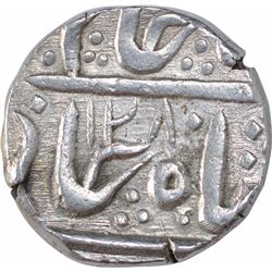 Silver One Rupee Coin of Malharnagar Mint of Indore State.