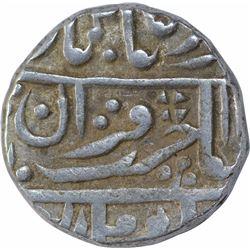 Silver One Rupee Coin of Nandgaon Mint of Kotah State.