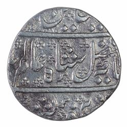 Silver One Rupee Coin of Arkat Mint of Indo French.