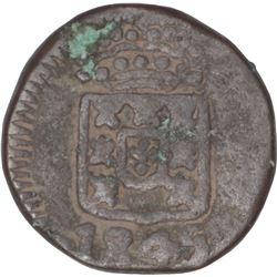 Copper Three Reis Coin of Maria II of Goa of Indo Portuguese.