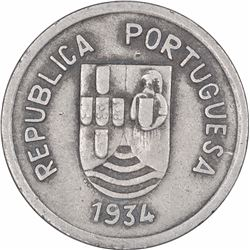 Cupro Nickel Four Tanga Coin of Indo Portuguese.