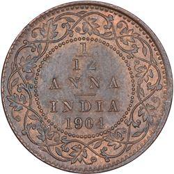 Copper One Twelfth Anna Coin of Edward VII of Calcutta Mint of 1904.