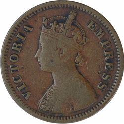 Copper Half Pice Coin of Victoria Empress of 1885.